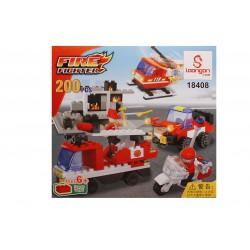 Jocul de construit tip lego: Pompieri