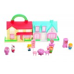 Set 2 Casute de Papusi cu Accesorii Pentru Copii